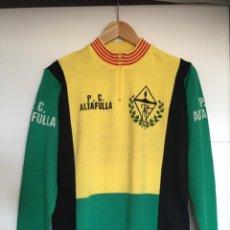 Coleccionismo deportivo: MAILLOT PEÑA CICLISTA ALTAFULLA.TALLA 5. MUY BUEN ESTADO. DE 1986. Lote 218573790