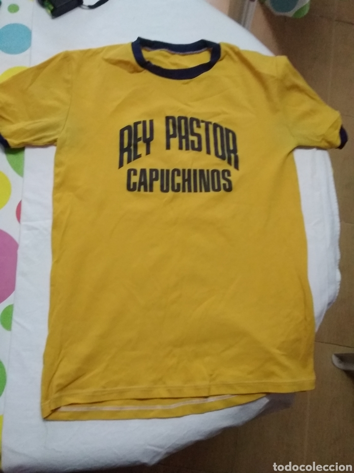 Coleccionismo deportivo: ANTIGUAS CAMISETAS (AÑOS 70 INICIO DE LOS 80) REY PASTOR CAPUCHINOS - Foto 4 - 219605253