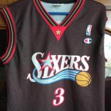 Coleccionismo deportivo: SIXERS IVERSON NBA EQU S CAMISETA SHIRT BASKET BASQUET. Lote 222215005