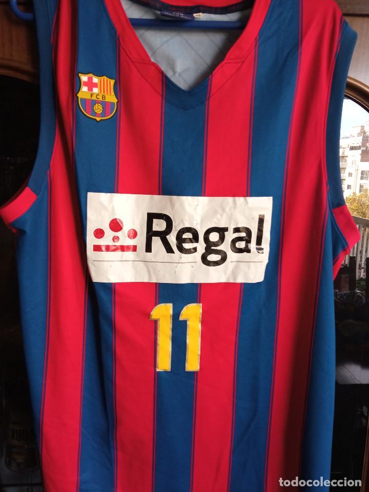 FC BARCELONA TRIBUTE BOMBA NAVARRO XL BASKET BASQUET SHIRT CAMISETA (Coleccionismo Deportivo - Ropa y Complementos - Camisetas otros Deportes)