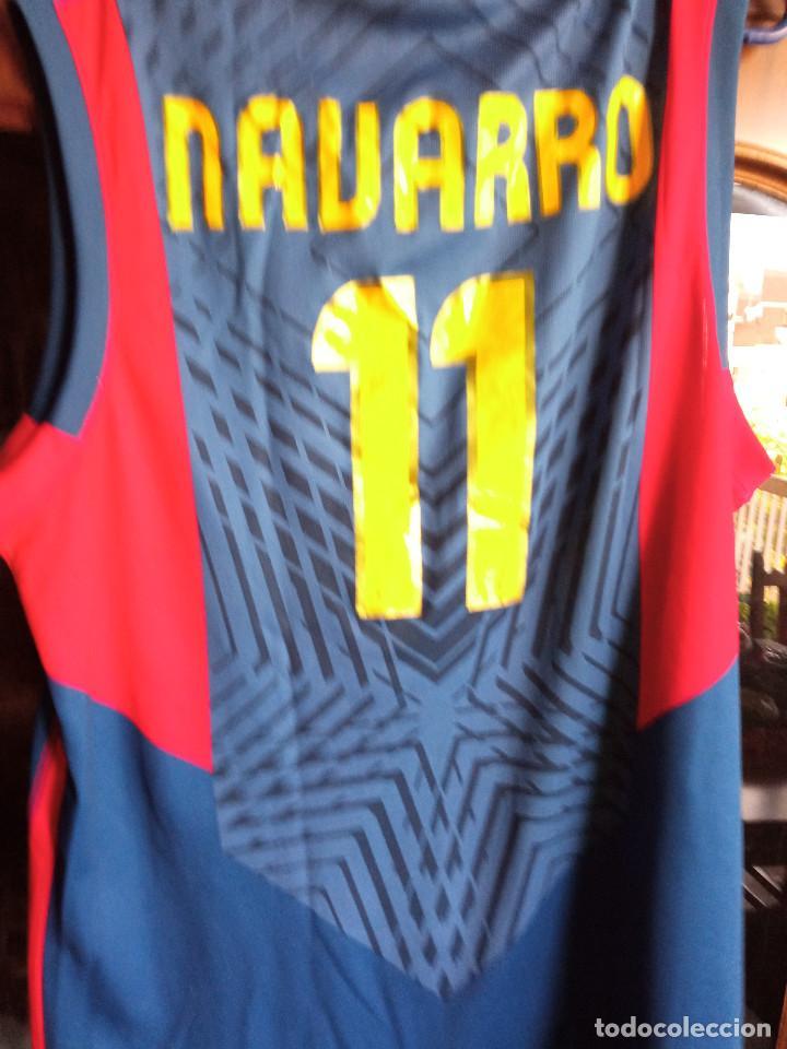 Coleccionismo deportivo: FC BARCELONA TRIBUTE BOMBA NAVARRO XL BASKET BASQUET SHIRT CAMISETA - Foto 2 - 222412418