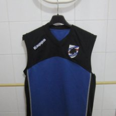 Coleccionismo deportivo: CAMISETA M/C AZUL Y NEGRA R.C. SAMPDORIA GARA TALLA L. Lote 222424657