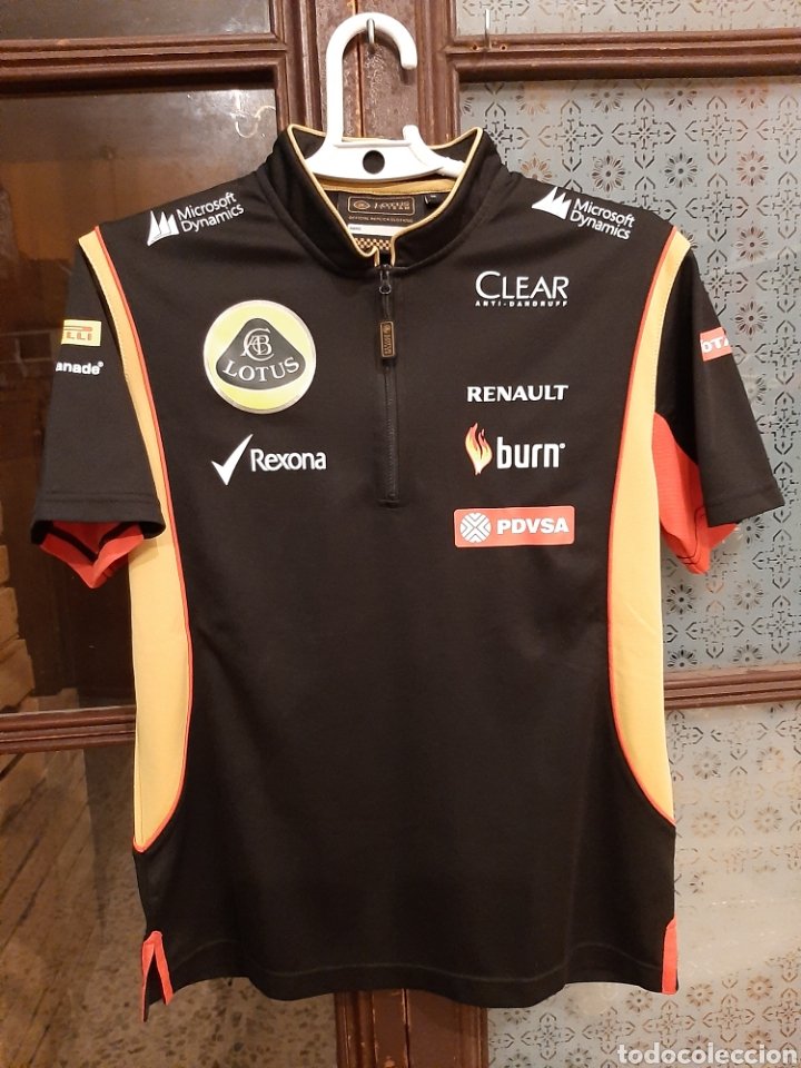 CAMISETA TÉCNICA EQUIPO LOTUS F1 (Coleccionismo Deportivo - Ropa y Complementos - Camisetas otros Deportes)