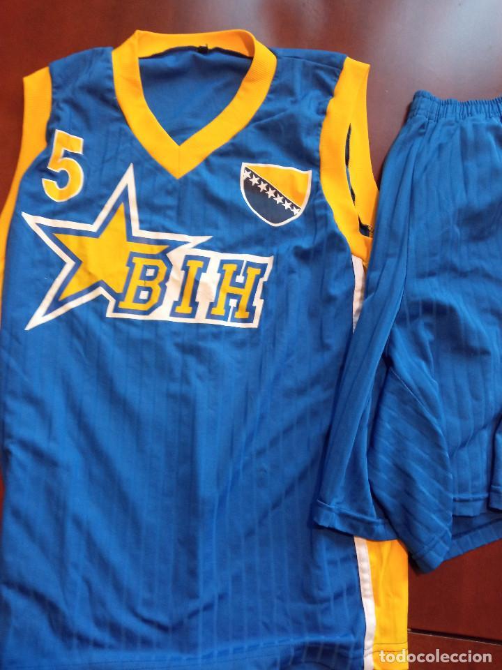 BOSNA HERZEGOVINA MATCH WORN VINTAGE L BOSNIA CAMISETA BASKET BASQUET SHIRT (Coleccionismo Deportivo - Ropa y Complementos - Camisetas otros Deportes)