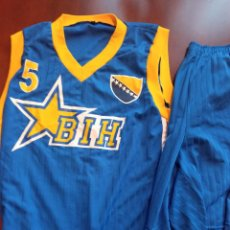 Coleccionismo deportivo: BOSNA HERZEGOVINA MATCH WORN VINTAGE L BOSNIA CAMISETA BASKET BASQUET SHIRT. Lote 243354470