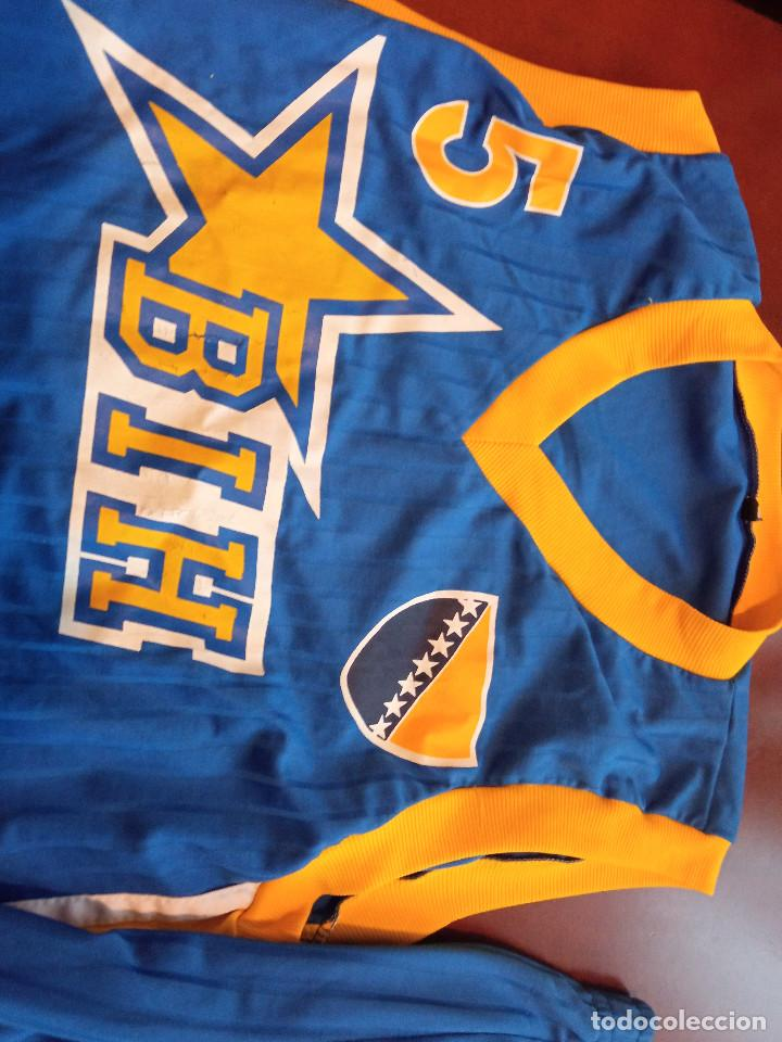 Coleccionismo deportivo: BOSNA HERZEGOVINA MATCH WORN VINTAGE L BOSNIA camiseta basket basquet shirt - Foto 2 - 243354470