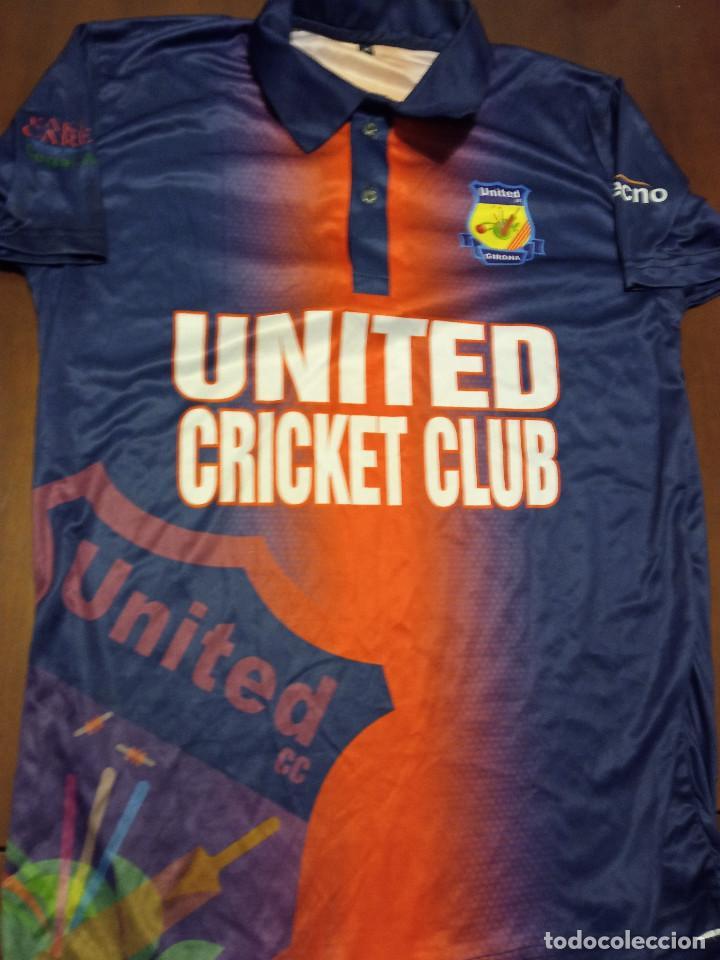 UNITED GIRONA CRICKET MATCH WORN CAMISETA SHIRT M (Coleccionismo Deportivo - Ropa y Complementos - Camisetas otros Deportes)