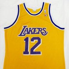 Coleccionismo deportivo: VLADE DIVAC #12 LOS ANGELES LAKERS 1990 TALLA L/XL. Lote 245491845