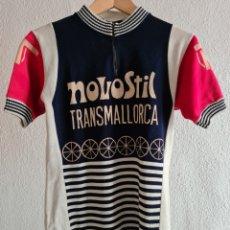 Coleccionismo deportivo: MAILLOT EQUIPO NOVOSTIL TRANSMALLORCA - AÑOS 70 - CICLISMO CLÁSICO RETRO MALLORCA BALEARES. Lote 253597760