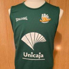 Coleccionismo deportivo: CAMISETA BALONCESTO EBG DE MALAGA. Lote 254629605