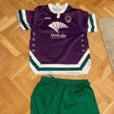 Coleccionismo deportivo: CAMISETA DE PASEO BALONCESTO EBG MALAGA +PANTALÓN. Lote 254638895