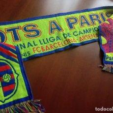 Coleccionismo deportivo: FC BARCELONA FINAL VERY RARE DIFFICULT PRO MATCH BUFANDA FUTBOL FOOTBALL SCARF. Lote 256113695