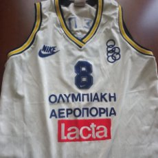 Coleccionismo deportivo: MATCH WORN MUSEUM OLIMPIAKOS OLYMPIAKOS MATCH WORN XL BASKET BASQUE SHIRT CAMISETA TRIKOT HELLAS. Lote 261784790