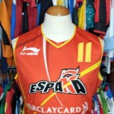 Coleccionismo deportivo: #11 ASPE ESPAÑA BASKET JUNIORS CAMPEÓN EUROPA 2004 CAMISETA LINING. Lote 264835994