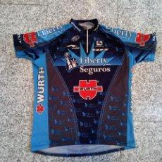 Coleccionismo deportivo: MAILLOT CICLISMO LIBERTY 2005 CONTADOR HERAS DAVID ETXEBARRIA CYCLING JERSEY. Lote 268802444