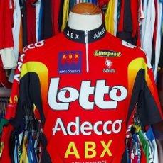 Coleccionismo deportivo: MAILLOT TEAM LOTTO ADECCO ABX TOUR 2002 NALINI. Lote 268954239