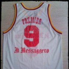 Coleccionismo deportivo: CAMISETA BALONCESTO IL MESSAGGERO ROMA BASKET ITALIA VINTAGE ROBERTO PREMIER PALLACANESTRO. Lote 270147493