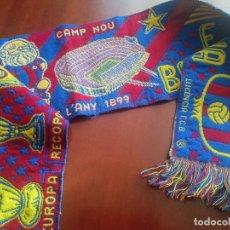 Coleccionismo deportivo: FC BARCELONA SCARF FOOTBALL FUTBOL BUFANDA. Lote 271014133