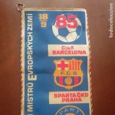 Coleccionismo deportivo: SPARTA PRAHA FC BARCELONA PENNANT FOOTBALL FUTBOL SIGNED LEGEND BANDERIN. Lote 271014663