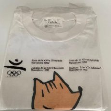 Coleccionismo deportivo: CAMISETA A ESTRENAR DE COBI JJOO BARCELONA 92 JUEGOS OLÍMPICOS MASCOTA MARISCAL.3,33 ENVÍO CERT.. Lote 276653988
