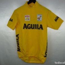 Coleccionismo deportivo: MAILLOT CICLISMO AMARILLO VUELTA A ESPAÑA 1995 CERVEZA AGUILA. Lote 288153778
