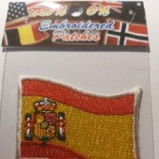 Coleccionismo deportivo: PARCHE MOTERO BANDERA ESPAÑA. Lote 293903053