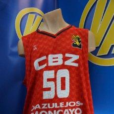 Coleccionismo deportivo: CAMISETA CLUB BALONCESTO ZARAGOZA. ARCAU 50. 3XL. ROJA.. Lote 295032563