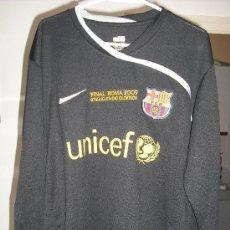 Coleccionismo deportivo: CAMISETA NIKE PORTERO DEL F.C. BARCELONA FINAL CHAMPIONS ROMA 2009 1 VALDÉS TALLA XL. Lote 26407960