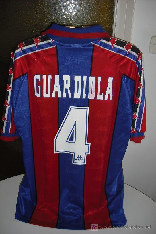 CAMISETA KAPPA DEL FUTBOL CLUB BARCELONA. TEMPORADA 95-96. DORSAL 4  GUARDIOLA. TALLA XL b48207aa8cc21