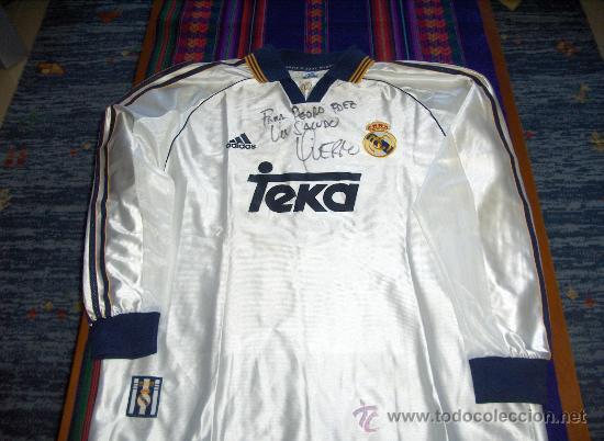 Camiseta Y Fernando Real 1999 Hierro Por Usada Adidas Sudada Firmada Con Regalo Madrid CCWqwHcTr
