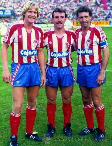 Sporting Gijon Home Camiseta de Fútbol 1995 - 1996.