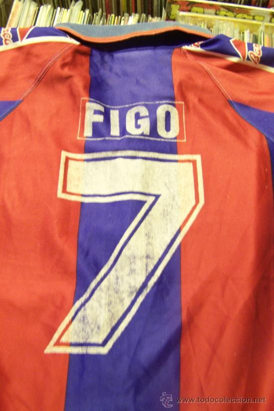 Coleccionismo deportivo: Camiseta Futbol club barcelona Barça Kappa Figo Dorsal 7 talla s - Foto 5 - 31770816