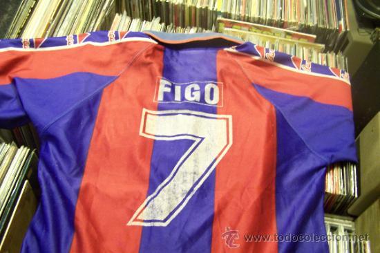 Coleccionismo deportivo: Camiseta Futbol club barcelona Barça Kappa Figo Dorsal 7 talla s - Foto 3 - 31770816