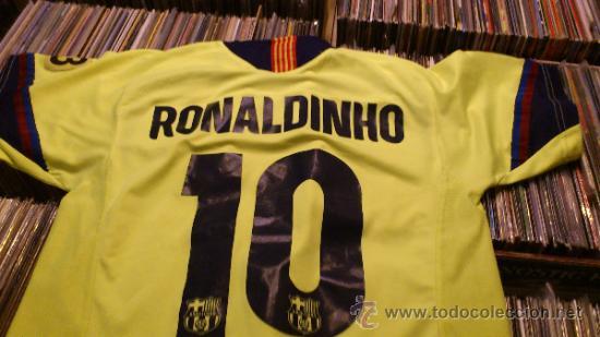CAMISETA FUTBOL CLUB BARCELONA BARÇA RONALDINHO 10 LEGEA TALLA M (Coleccionismo Deportivo - Ropa y Complementos - Camisetas de Fútbol)