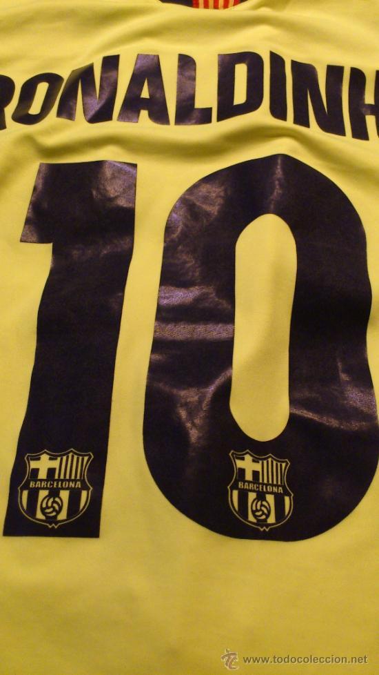 Coleccionismo deportivo: Camiseta Futbol club barcelona Barça Ronaldinho 10 Legea Talla M - Foto 2 - 31959535