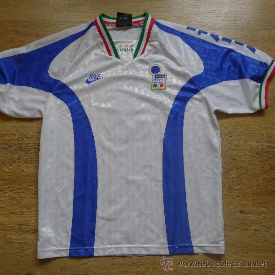 CAMISETA DE FUTBOL ITALIA NIKE RAMAZZOTI CALCIO (Coleccionismo Deportivo - Ropa y Complementos - Camisetas de Fútbol)
