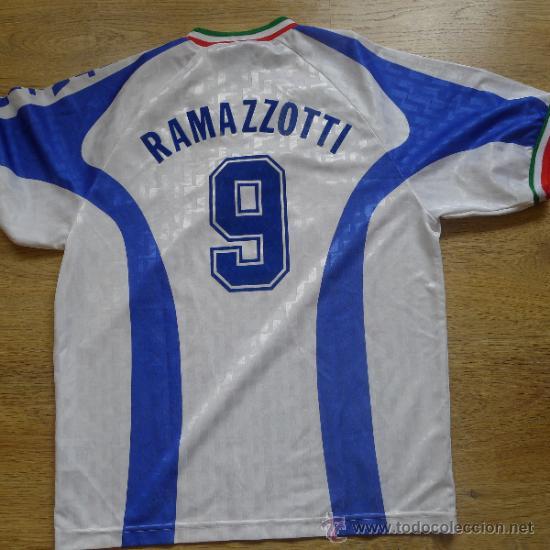 Coleccionismo deportivo: Camiseta de Futbol Italia Nike Ramazzoti Calcio - Foto 3 - 178651323