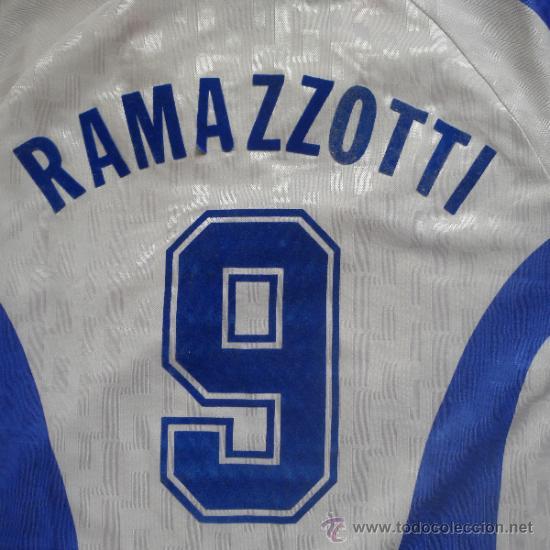 Coleccionismo deportivo: Camiseta de Futbol Italia Nike Ramazzoti Calcio - Foto 6 - 178651323