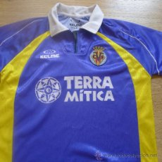 Coleccionismo deportivo: CAMISETA VILLA REAL VILAREAL AZUL TERRA MITICA TALLA S KELME. Lote 32888403