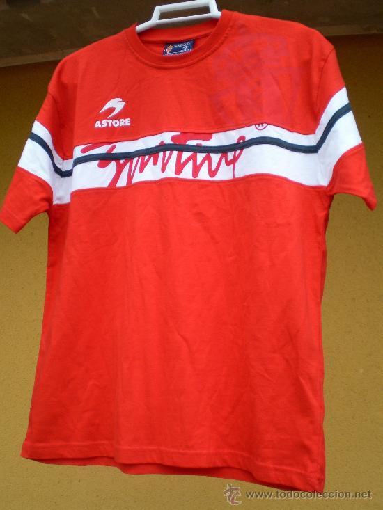 CAMISETA SPORTING DE GIJÓN ASTORE, TALLA 16 (Coleccionismo Deportivo - Ropa y Complementos - Camisetas de Fútbol)