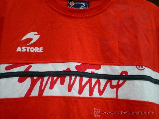Coleccionismo deportivo: Camiseta Sporting de Gijón Astore, talla 16 - Foto 2 - 33657734
