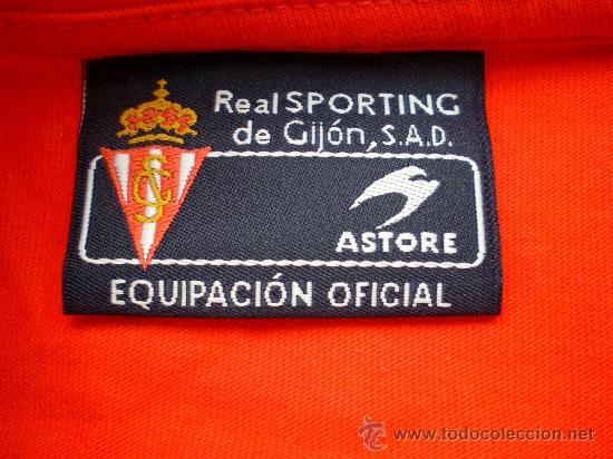 Coleccionismo deportivo: Camiseta Sporting de Gijón Astore, talla 16 - Foto 3 - 33657734