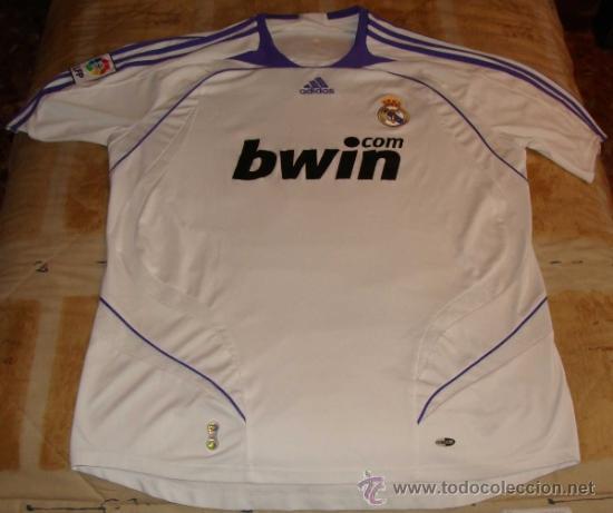 d1bcc5b343f69 CAMISETA DEL REAL MADRID CLUB DE FÚTBOL. BWIN. ADIDAS. TEMPORADA 2007 2008.