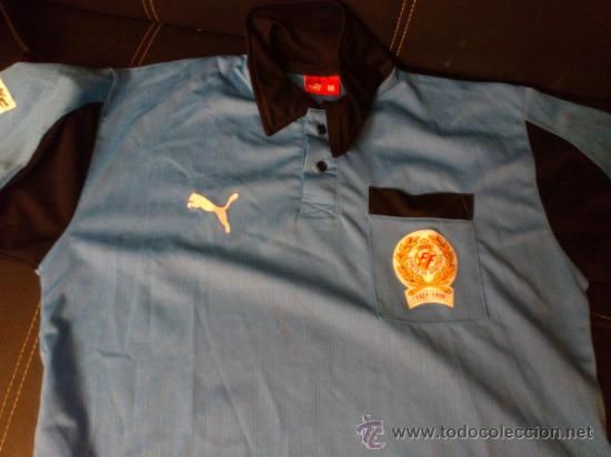 CAMISETA ARBITRO PUMA TALLA M COMITE DE ARBITROS 1921-1996 REAL FEDERACION ESPAÑOLA DE FUTBOL (Coleccionismo Deportivo - Ropa y Complementos - Camisetas de Fútbol)