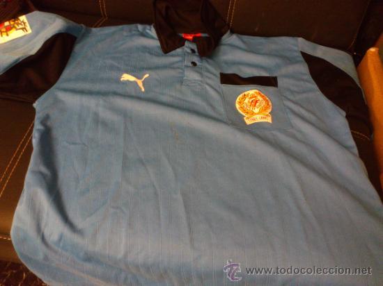 Coleccionismo deportivo: Camiseta Arbitro Puma Talla M Comite de arbitros 1921-1996 Real federacion española de futbol - Foto 2 - 35433156