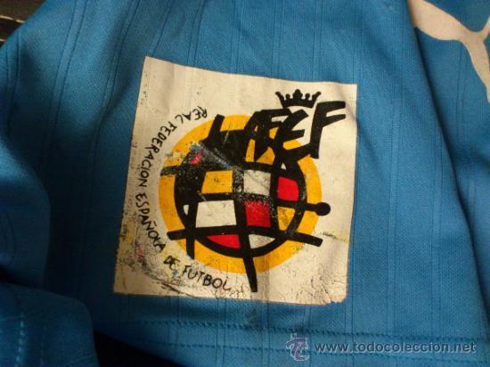 Coleccionismo deportivo: Camiseta Arbitro Puma Talla M Comite de arbitros 1921-1996 Real federacion española de futbol - Foto 4 - 35433156