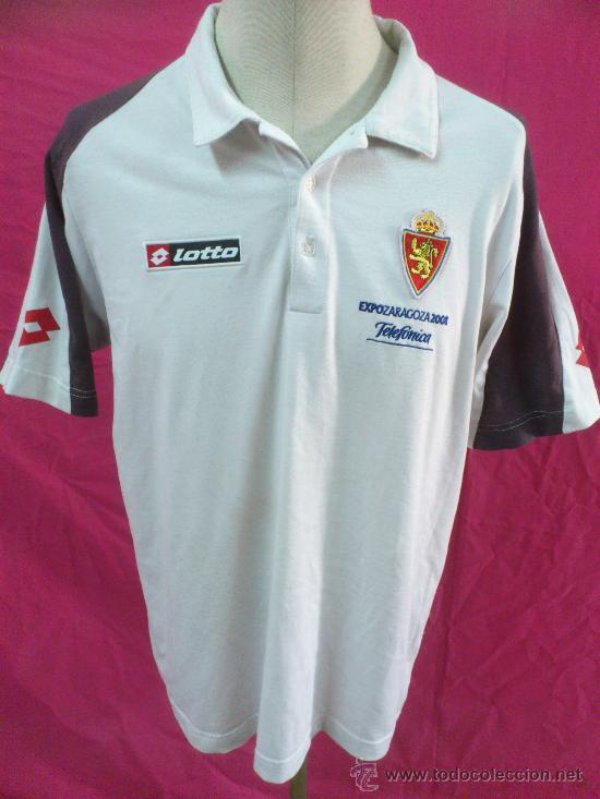 .. CAMISETA NIKI NIKY REAL ZARAGOZA FUTBOL. EXPO 2008 ORIGINAL LOTTO. TALLA XL (Coleccionismo Deportivo - Ropa y Complementos - Camisetas de Fútbol)