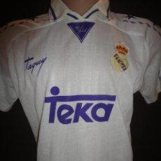Coleccionismo deportivo: CAMISETA FUTBOL ORIGINAL TAQUY REAL MADRID RAUL TALLA L TEKA. Lote 36963314