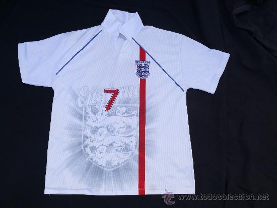 Camiseta futbol antigua inglaterra beckham t-l - Vendido en Venta ... 43614cb45f414
