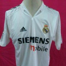 Coleccionismo deportivo: CAMISETA FUTBOL ORIGINAL ADIDAS REAL MADRID. SIEMENS MOBILE. Lote 37117265